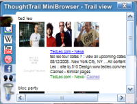 Screenshot of ThoughtTrail MiniBrowser